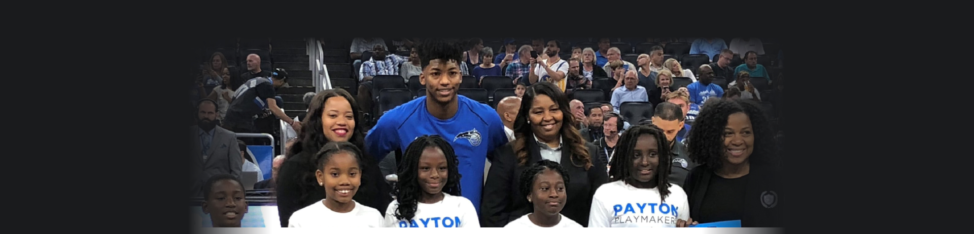 payton with children in the court
